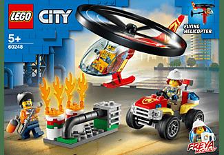 LEGO 60248 Einsatz mit dem Feuerwehrhubschrauber Bausatz, Mehrfarbig