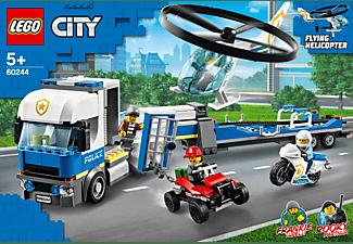 LEGO 60244 Polizeihubschrauber-Transport Bausatz, Mehrfarbig
