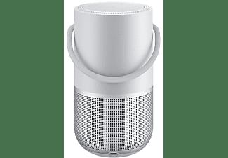 Altavoz inalámbrico - Bose Portable Home Speaker, Wi-Fi, Bluetooth, Control de voz, 12h Autonomía, Plata