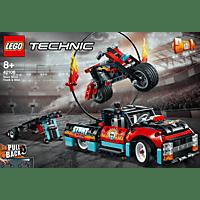 LEGO Stunt-Show mit Truck und Motorrad Bausatz, Mehrfarbig