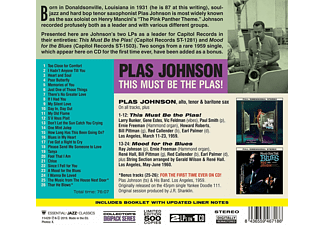 Plas Johnson - This Must Be The Plas!+Mood For The Blues+2 Bo  - (CD)