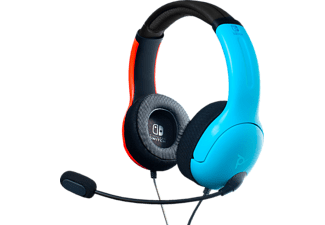 PDP LLC LVL40 Wired, Over-ear Headset Blau/Rot