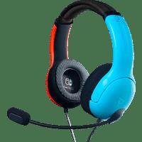 PDP LLC LVL40 Wired Headset für Nintendo Switch, Blau/Rot