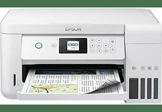 Impresora multifunción - Epson ECOTANK ET-2756, 33 ppm, 5760 x 1440 dpi, A4, WiFi, Blanco