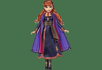 HASBRO Disney Eiskönigin Singende Anna Puppe mit Musik in lila Kleid zu Disneys Die Eiskönigin 2 Puppe Mehrfarbig
