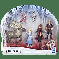 FROZEN Disney Abenteuer Freunde-Set, 5 kleine Puppen aus Die Eiskönigin 2 Sammelfigurenspielset, Mehrfarbig
