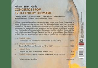 Aksnes/Cooper/Thorel/Aarhus Symphony Orchestra/+ - CONCERTOS FROM 19TH CENTURY DENMARK  - (CD)
