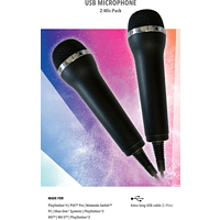 DEEP SILVER Mikrofon für Karaoke Games (Lets Sing, Voice of Germany, SingStar etc.) für PlayStation, Nintendo, XBOX One, USB Mikrofone , Schwarz