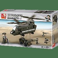 SLUBAN Transporthubschrauber I (370 Teile) Konstruktionsspielzeug, Mehrfarbig