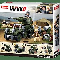 SLUBAN WWII - Kampfverband 4-in-1 (334 Teile) Konstruktionsspielzeug, Mehrfarbig