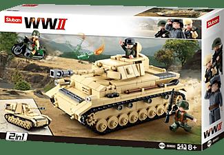 SLUBAN WWII - Deutscher Panzer (543 Teile) Konstruktionsspielzeug, Mehrfarbig