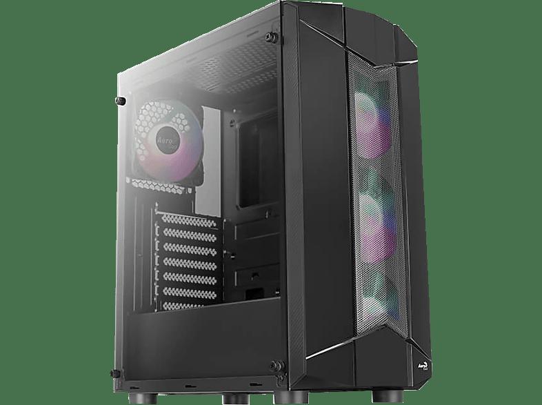 AEROCOOL Sentinel PC-Gehäuse, Schwarz