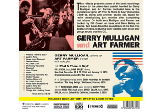 Mulligan, Gerry / Farmer, Art - What Is There To Say?+Broadcast From The Navy SW  - (CD)