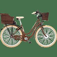 FISCHER 62813 RETRO DA28 3G ER 1804-S2 Citybike (28 Zoll, 48 cm, 317 Wh, Braun)