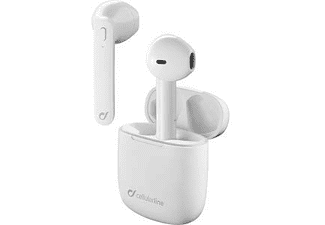 Auriculares inalámbricos - Cellular Line Aries (BTARIESTWSW), Bluetooth, True Wireless, Blanco