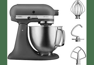 KITCHEN AID Küchenmaschine 5 KSM 156 HBEGR ARTISAN MATTE GREY & BRUSHED BOWL