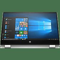 HP Pavilion x360 14-dh0545ng, Convertible mit 14 Zoll Display, Pentium® Gold Prozessor, 8 GB RAM, 512 GB SSD, Intel® UHD Graphics 610, Silbergrau