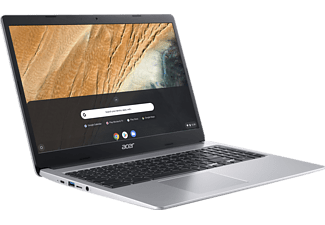 ACER Chromebook 15 (CB315-3HT-C47Q), Chromebook mit 15,6 Zoll Display Touchscreen, Intel® Celeron® Prozessor, 4 GB RAM, 64 GB eMMC, Intel® UHD-Grafik 600, Silber