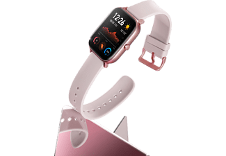 AMAZFIT A1914 GTS Smartwatch Aluminium + Kunststoff Silikon, 120 mm + 87 mm, Pink