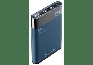 Powerbank - Cellular Line FREEPMANTA, Para smartphone o tablet, USB, MicroUSB, USB-C, Negro