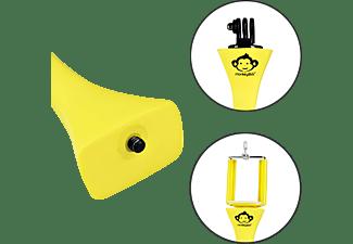 S+M Monkeystick Stativ, Gelb, Höhe offen bis ca. 45 cm