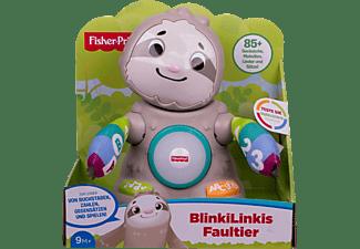 FISHER PRICE BlinkiLinkis Faultier, Baby-Spielzeug mit Musik Lernspielzeug Mehrfarbig
