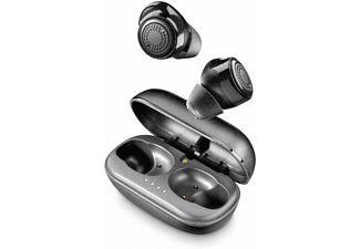 Auriculares inalámbricos - Cellularline BTPETITTWSK, Bluetooth, MicroUSB, Atiende llamadas, 4.5 Horas, Gris