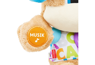FISHER PRICE Lernspaß Hündchen, Baby-Spielzeug mit Musik, Kuscheltier Lernspielzeug Mehrfarbig