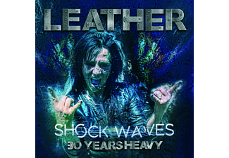 Leather - Shock Waves: 30 Years Heavy (Black Vinyl)  - (Vinyl)