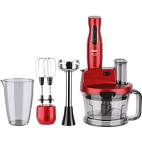 FAKIR 9196001 Mr Chef Quadro Rosie Stabmixer Rot (425 Watt)