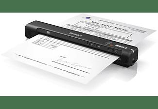 Escáner portátil - Epson Workforce ES-60W, 600 x 600 DPI, 4 s/pag., WiFi, ScanSmart, Negro
