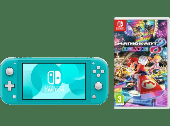 Nintendo Switch Lite Turkisblau Mario Kart 8 Deluxe