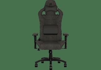 CORSAIR T3 RUSH, Gaming Chair, Stoff, Black/Black Gaming Stuhl, Schwarz