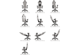 CORSAIR T3 RUSH, Gaming Chair, Stoff, Gray/White Gaming Stuhl, Weiß/Grau