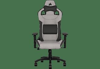 CORSAIR T3 RUSH, Gaming Chair, Stoff, Gray/Black Gaming Stuhl, Grau/Schwarz