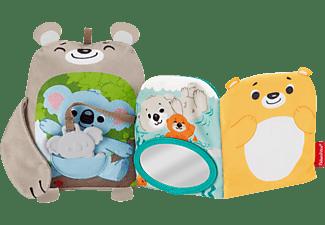 FISHER PRICE Babys weiches Kuschelbuch Sensorik Spielzeug Mehrfarbig
