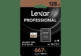 LEXAR High-Performance 667x UHS-I U3, Micro-SDXC Speicherkarte, 128 GB, 100 MB/s