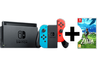 NINTENDO Switch Neonrot/blau (neue Edition) + The Legend of Zelda: Breath of the Wild