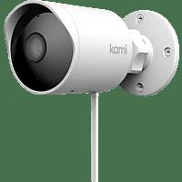 YI TECHNOLOGY Kami Outdoor Sicherheitskamera, Auflösung Video: 1920 x 1080 Pixel, Weiß