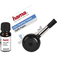 HAMA Optik HTMC 3-teiliges Reinigungsset, Foto/Video, Schwarz