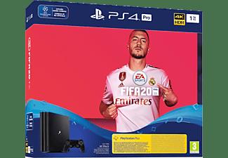PLAYSTATION PS4 Pro 1 TB FIFA 20 + 14 dagen PS Plus Bundle Zwart