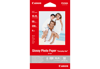 CANON GP-501 4X6 50 SHEETS Fotopapier glänzend - Canon GP-501 Fotoglanzpapier 10X15, 50 Blatt