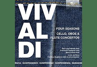 Pier Luigi Fabretti, Francesco Galligioni, Mario Folena, Federico Guglielmo, L'arte Dell' Arco - Vivaldi:Four Seasons,Cello,Oboe & Flute Concertos  - (CD)