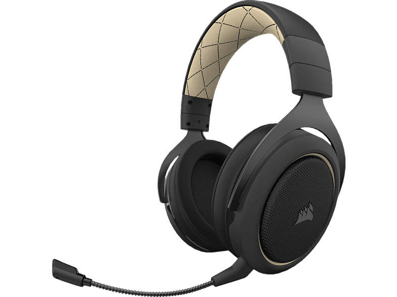CORSAIR HS70 Pro Wireless, Over-ear Gaming Headset Creme