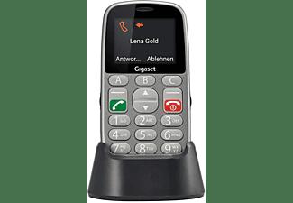 Móvil - Gigaset GL390, Teclas grandes, Botón SOS, Marcaciones directas, Bluetooth, Gris