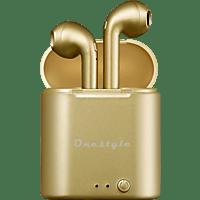 CORN TECHNOLOGY Onestyle TWS-BT-V7, In-ear True Wireless Kopfhörer Bluetooth Gold