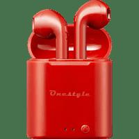 CORN TECHNOLOGY Onestyle TWS-BT-V7, In-ear True Wireless Kopfhörer Bluetooth Rot