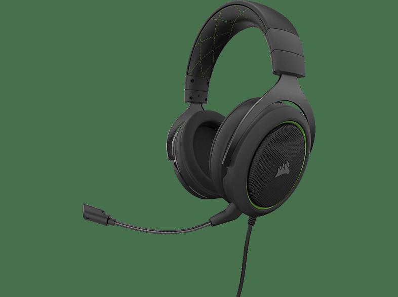 CORSAIR HS50 PRO, Over-ear Gaming Headset Schwarz Grün