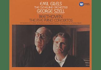 Emil Gilels, The Cleveland Orchestra - Klavierkonzerte 1-5/Klaviervariationen  - (CD)