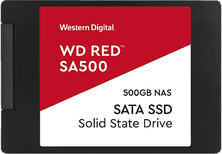WESTERN DIGITAL WD Red SA500 NAS SATA SSD - Disque dur (SSD, 500 GB, Noir)